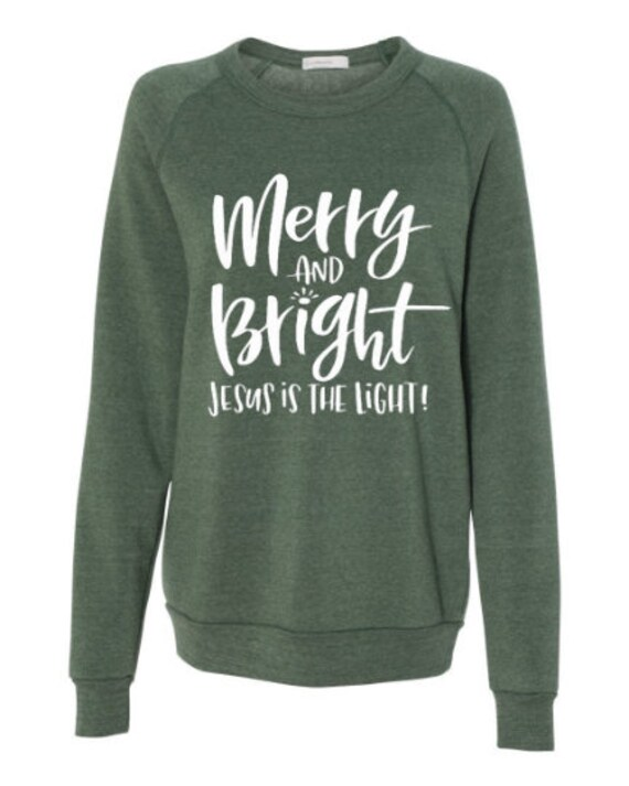 Merry And Bright // Sweatshirt (Black + Green)