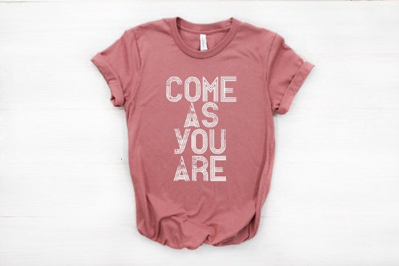 Come As You Are T-Shirt  // (Mauve+Navy)