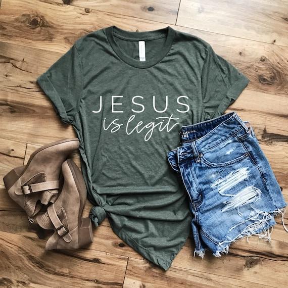 Jesus Is Legit Tee // Green