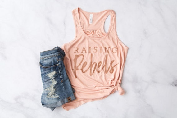Raising Rebels // Peach Racerback Tank