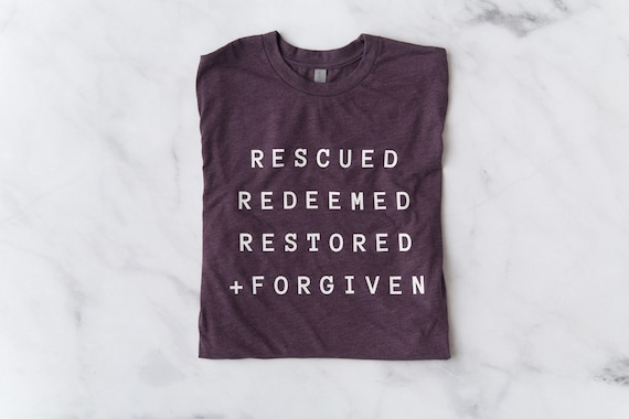 Rescued, Redeemed, Restored + Forgiven // Vintage Purple