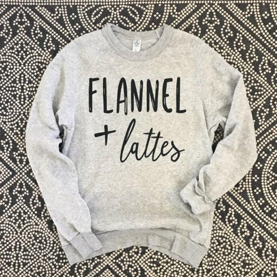 Flannel + Latte // Sweatshirt