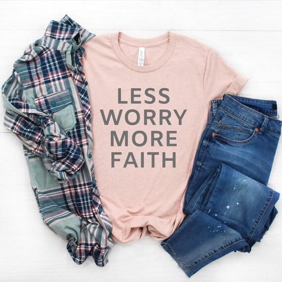 Less Worry More Faith // Peach