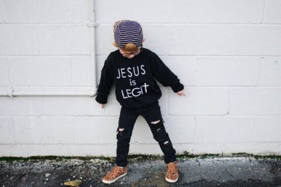 Jesus is Legit // Kids Sweatshirt
