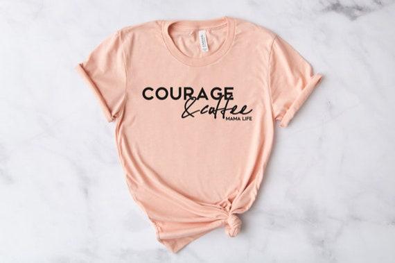 Courage + Coffee // Peach Tee