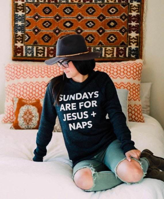 Sundays, Jesus + Naps Sweatshirt // Black