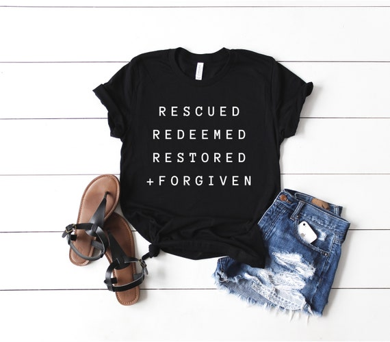 Rescued, Redeemed, Restored + Forgiven // Emerald + Black Tee