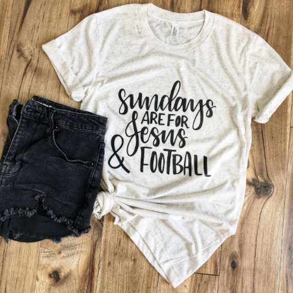Sundays, Jesus + Football Adult Tee // Oatmeal
