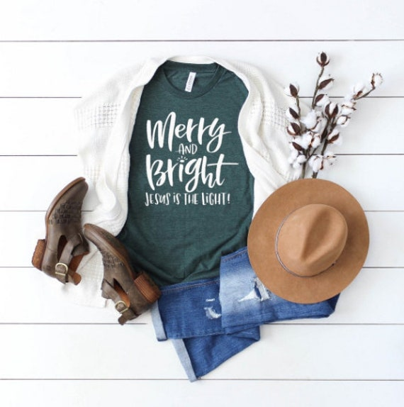 Merry and Bright // Forest Green Tee