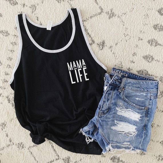 Mama Life // Black UNISEX Tank