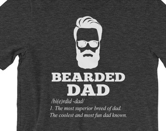 d1747bad Bearded Dad -Definition Bearded Dad - Gift For Daddy Father Day Family  Premium Unisex T-Shirt