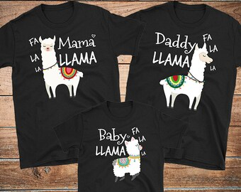 cf9948b51a Llama Family Pajamas Set - Mama Llama Shirt - Daddy Llama Shirt - Baby Llama  Shirt - Family Matching Llama Christmas Pajamas T-Shirt