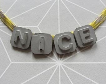 Concrete fabric necklace NICE