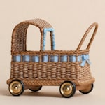 Dollhouse miniature, Wicker doll's carriage, scale 1 : 12, WC/10 17