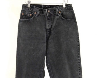 Vintage 550 Women's Levi's Faded Black Denim Jeans