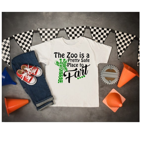 Funny Zoo Giraffe Svg Zoo Animal Farts Dxf Funny Trip To Etsy