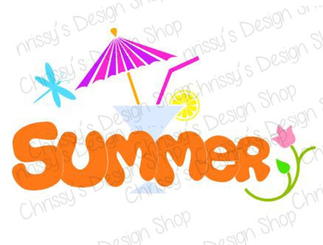 summer fun svg file summer svg file summer silhouette etsy rh etsy com Beach Ball Clip Art summer fun clipart images
