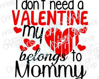 Heart belongs to mommy Valentines SVG / heart belongs to daddy SVG / baby valentine to svg / cut file / valentines dxf / vinyl crafts