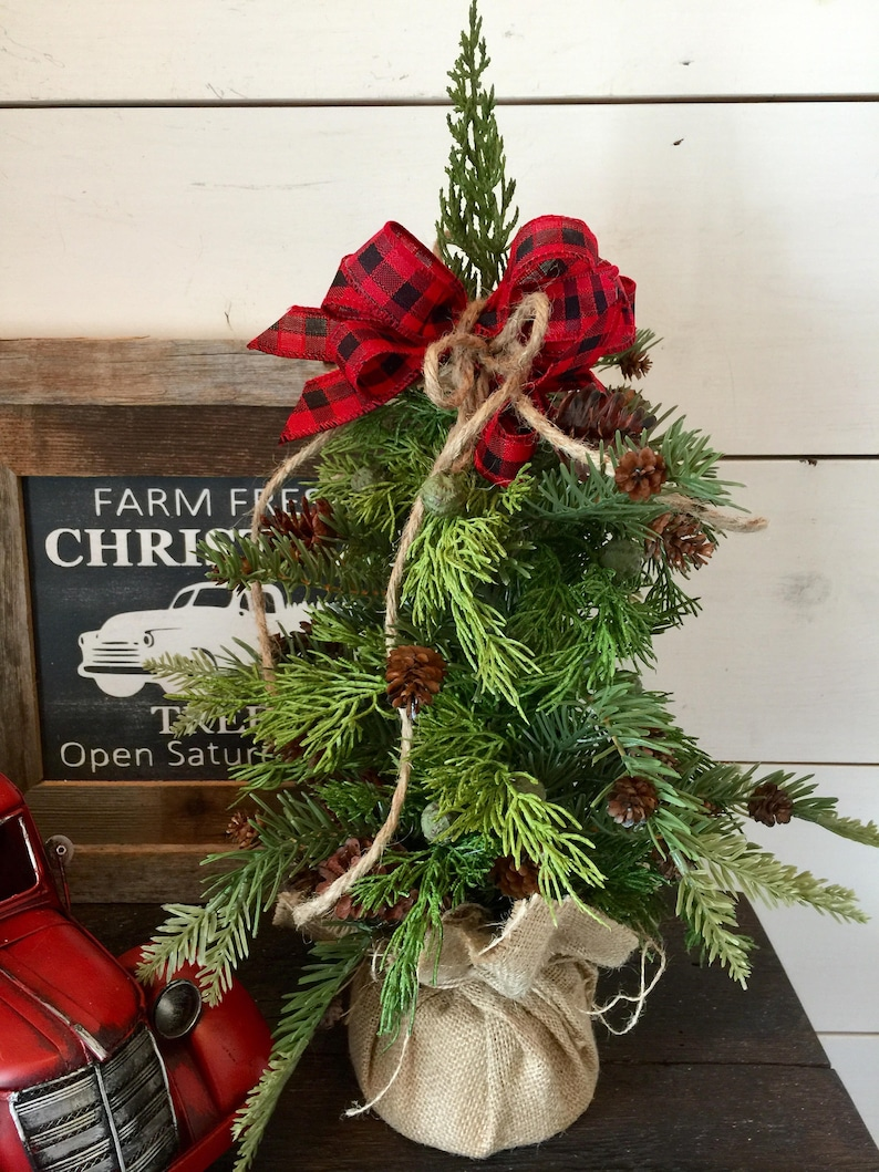 Juniper Christmas Tree Small Christmas Tree Decor Farmhouse Table Decor Farmhouse Christmas Decor Rustic Christmas Decor Gift