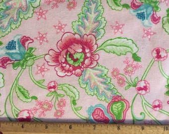Floral Flannel, Floral Fabric By The Yard, Fabric BTY,  Craft Fabric, Quilting Fabric, Flannel Fabric, Baby Fabric
