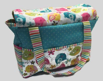 Doll Diaper Bag, pretend play, doll accessories, big sister gift, Birthday gift