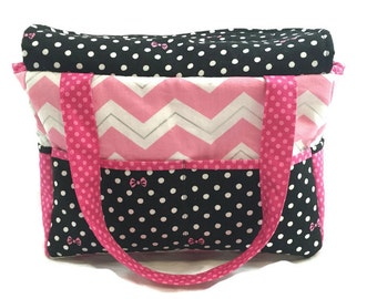 Doll Diaper Bag, pretend play, doll accessories, big sister gift