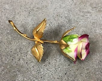 Vintage Rose Brooch - Jacket Pin