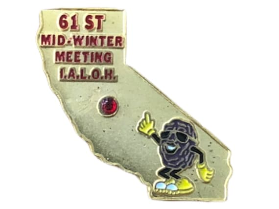 Masonic California Raisin Lapel Pin, 1992