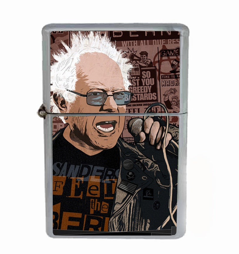 c7f1fb2099439 Bernie Sanders Punk Rock Presidential Campaign 2016 Flip Top Oil Cigarette  Lighter