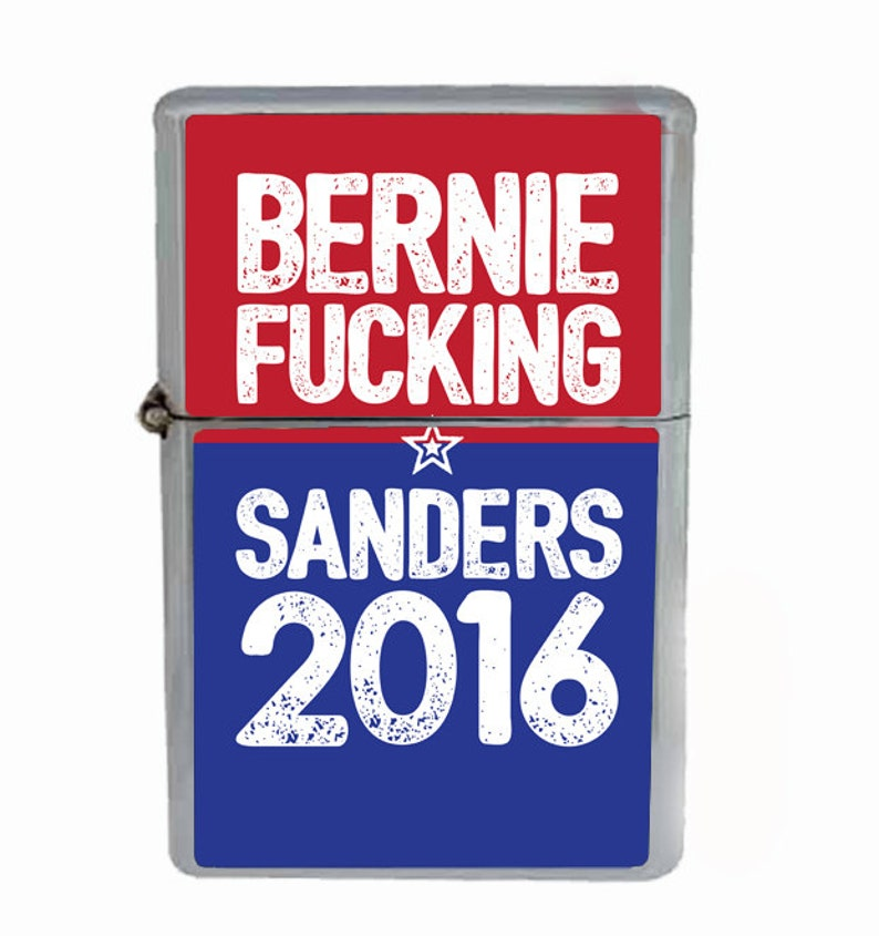 99583332a38f4 Bernie Fucking Sanders Flip Top Oil Cigarette Lighter