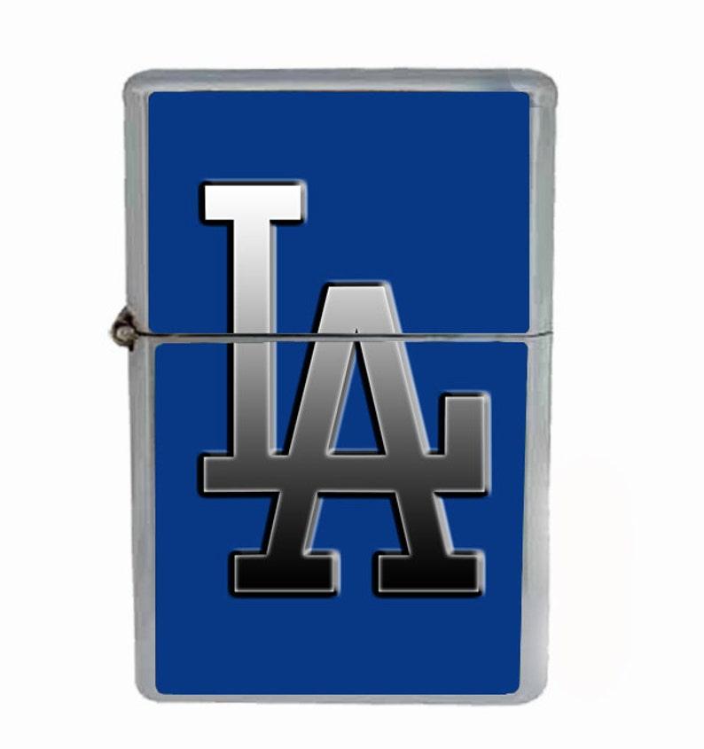 8eaa80f08cc76 Los Angeles Logo Flip Top Oil Cigarette Lighter
