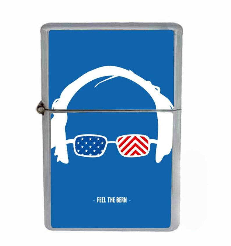896f39ea4aa36 Bernie Sanders Feel The Bern Presidential Campaign 2016 Flip Top Oil  Cigarette Lighter