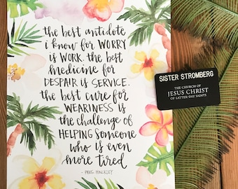 Tropical Sister Missionary Quote