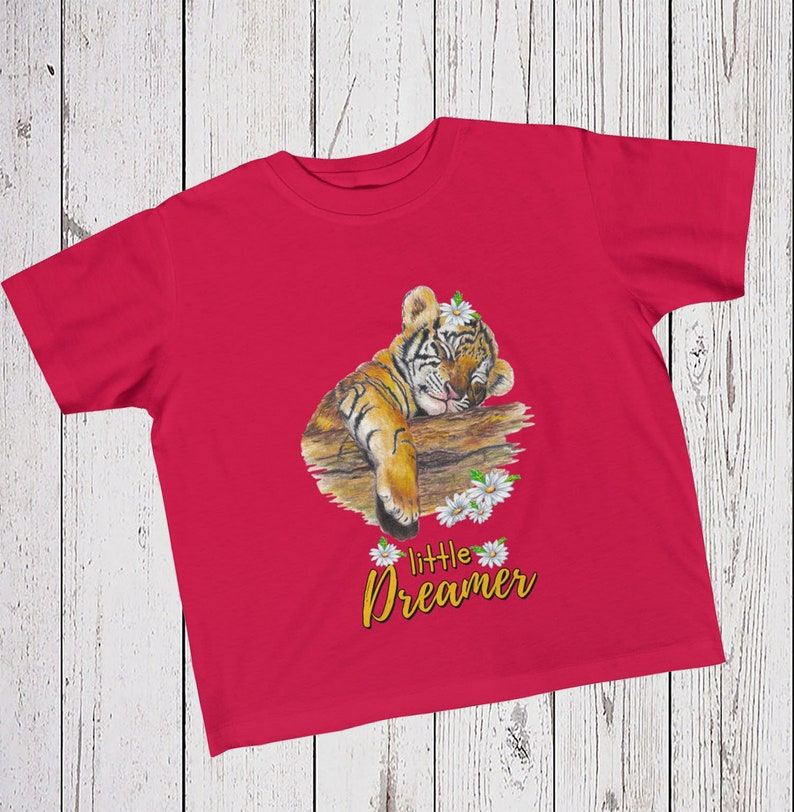 44060800 Kids Girl Tiger Tee Toddler T-Shirt Children's Shirt | Etsy