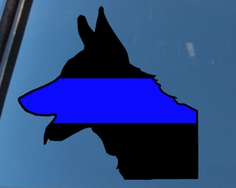 K9 Thin Blue Line Decal, K 9 Officer Decal, K9 TBL Decal, Police Decal, Law Enforcement Support Decal, LEO Decal, Police Wife Sticker