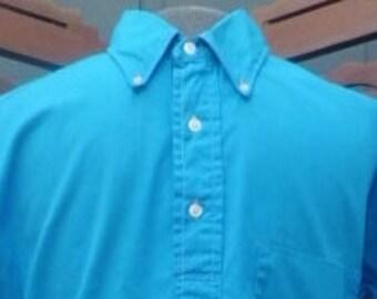 Small VINTAGE harper  1960s SANFORIZED button down collar pullover shirt small