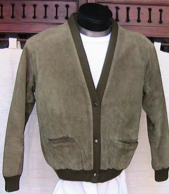 60s Talbots small Suede Moss Green Vintage Jacket