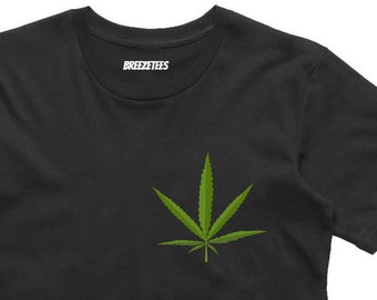 248963af98 Weed Cannabis Medical Marijuana Leaf Pocket T-Shirt