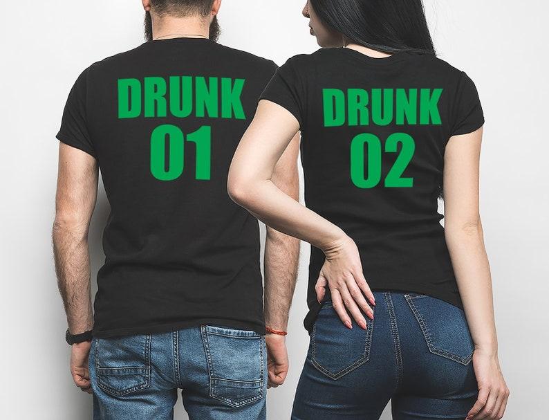 be3f4c104 St Patricks Day Drinking T-shirts Couple Matching T-shirts St   Etsy