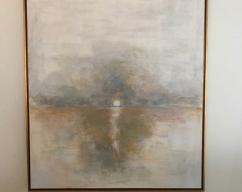 Original LARGE Abstract Canvas Art (48x60) Sunset