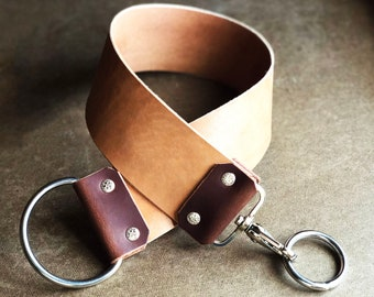 "Horween Horsehide 3"" Wide Leather Strop/Straight Razor Leather Strop/Sharpening Strop/Barber Strop/ Shaving Strop/ Razor Sharp/ Custom Strop"