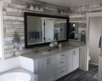 Reclaimed Wood Wall Paneling (White Washed)