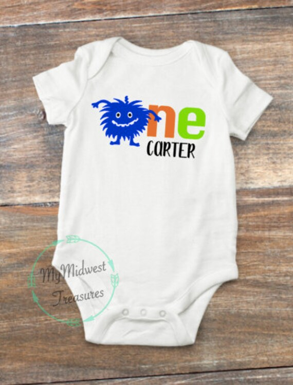 First Birthday Outfit Boy Personalized Baby