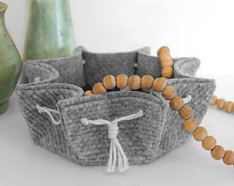 Scalloped Ribbed Felt Bowl – Mod Scandi Organic Design