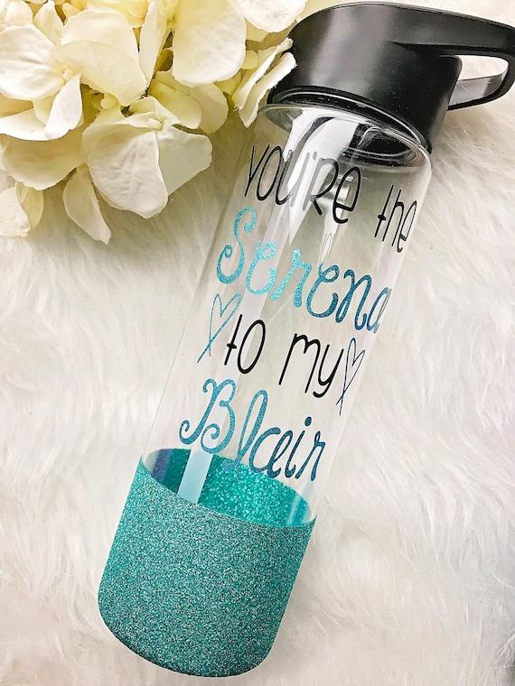 Vous êtes la Serena à ma bouteille d'eau de trempé de paillettes Blair / / Gossip Girl TV Show cadeau/Gossip Girl eau bouteille / / meilleur ami cadeau / / GG