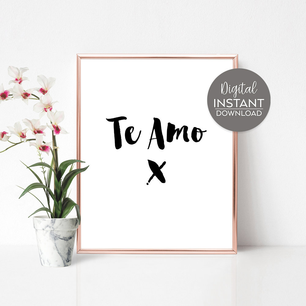 Women Gift Statement Te Amo Spanish Quotes Spanish Etsy