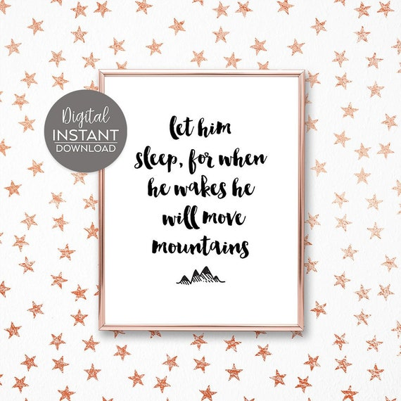 Sleep quotes for nursery / Gift for baptism boy / Godson / Gift for baby  nephew / Boy\'s room decorating / FILE DOWNLOAD