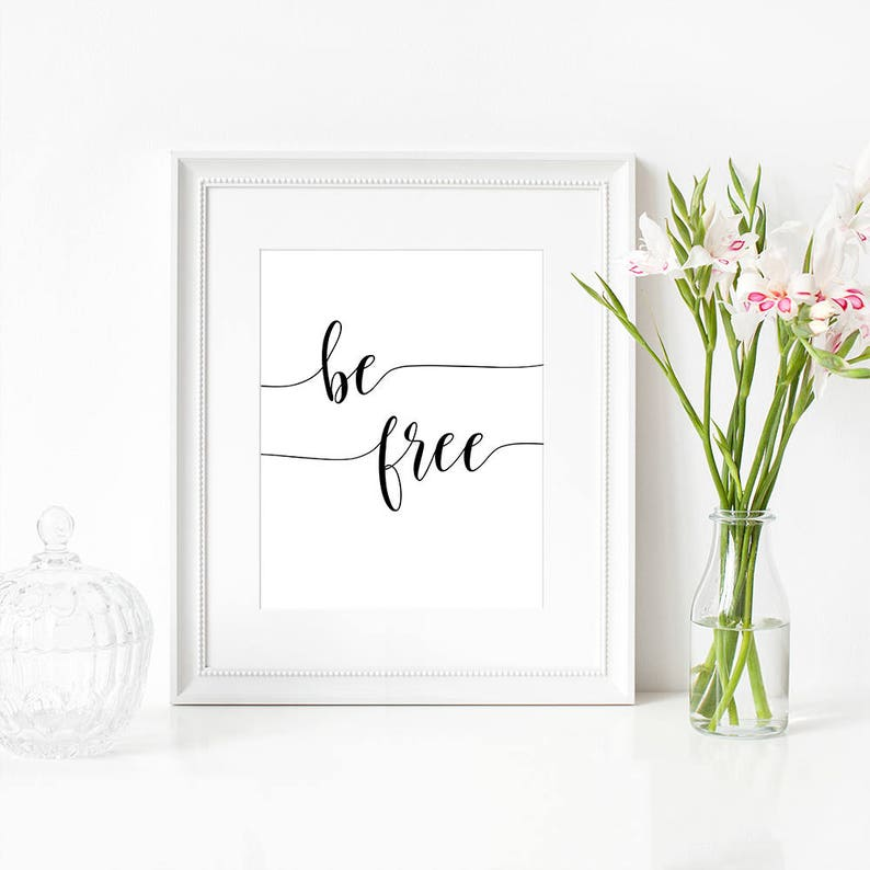 Quotes Inspiring Free Spirited Woman Home Accessories Etsy