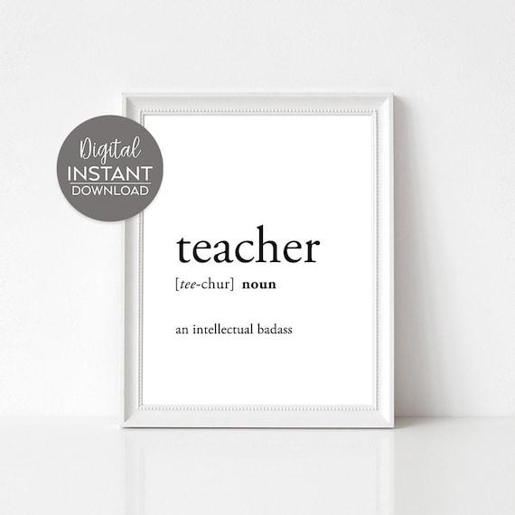 Teacher appreciation / Funny teacher quotes / Funny gift ...