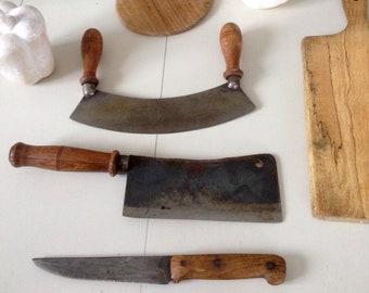 Antique french kitchen utensils